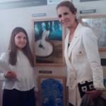 Marisa Nieto con la Infanta Elena
